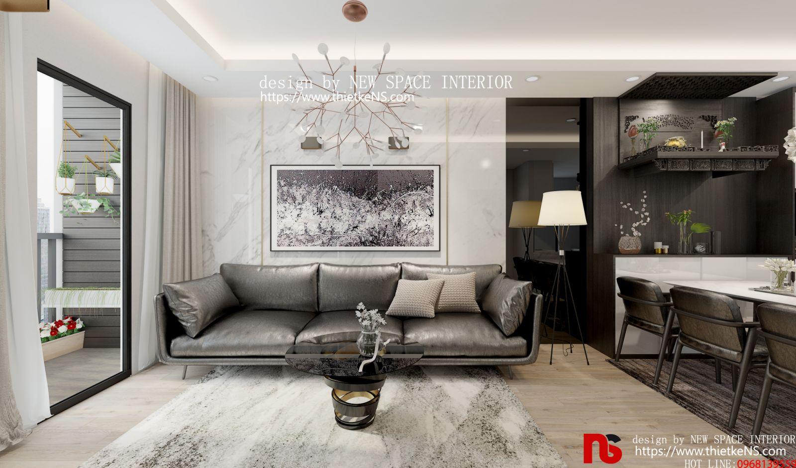 Thiết kế nội thất chung cư khu vực phòng khách