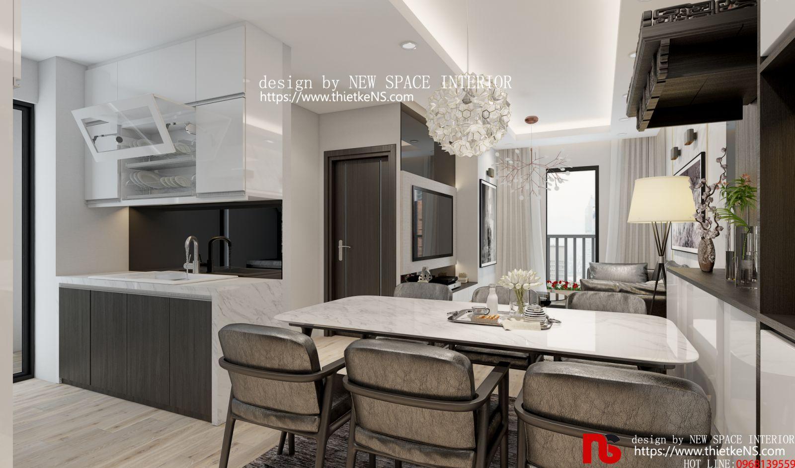 Thiết kế nội thất chung cư khu vực bếp