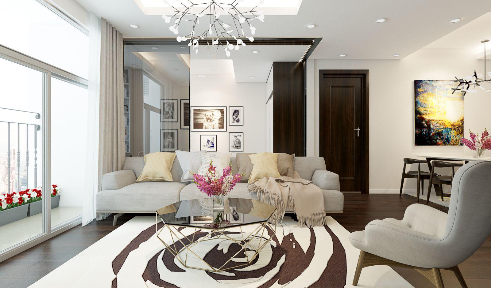 Thiết kế nội thất chung cư phòng kháchSkyvilletower