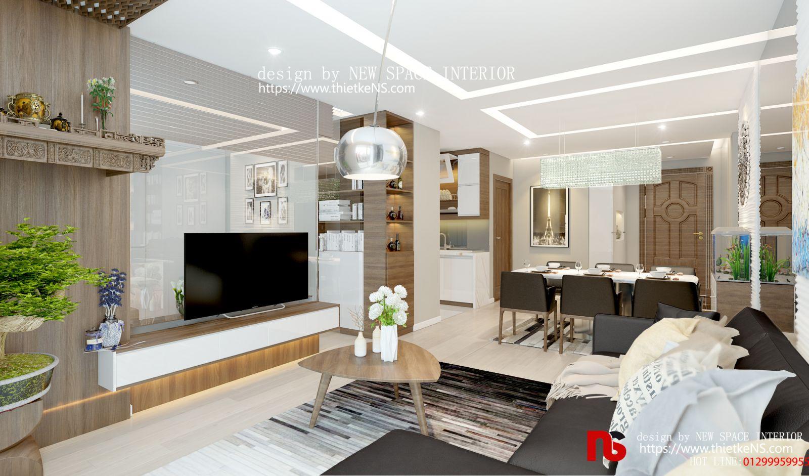 Thiết kế nội thất chung cư phòng khách đẹp mê ly