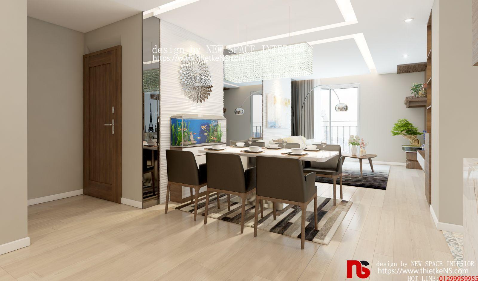 Thiết kế nội thất chung cư không gian ăn và nhàbếp