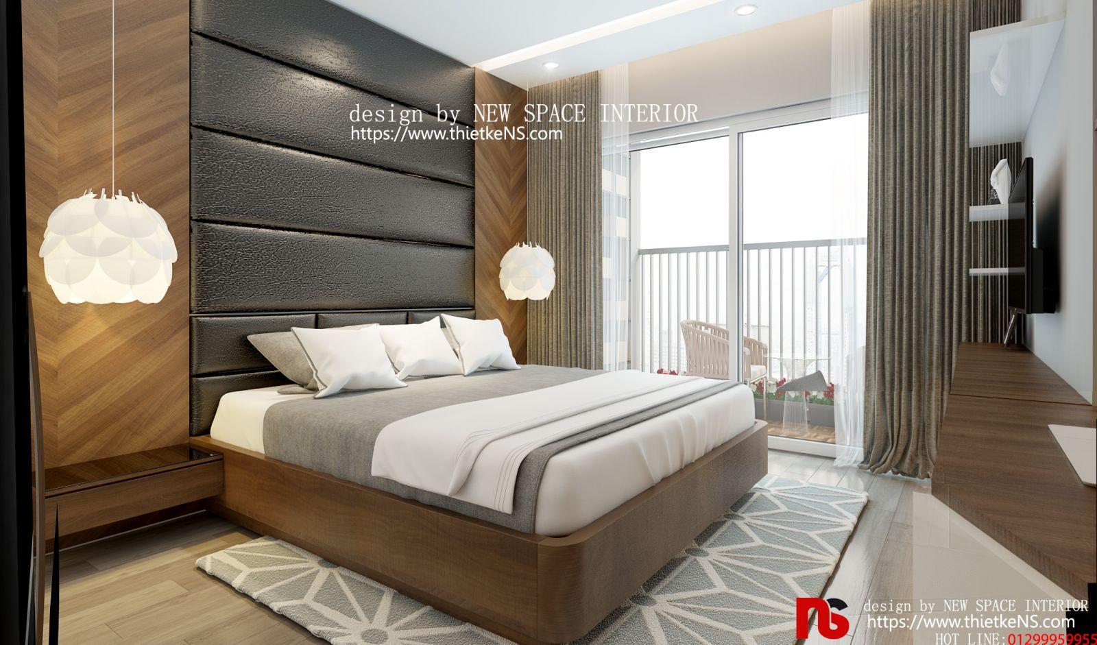 Thiết kế nội thất chung cư phòng ngủ hiện đại, đẳng cấp