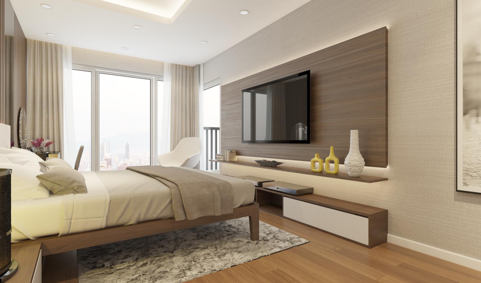 Thiết kế nội thất chung cư không gian ngủ