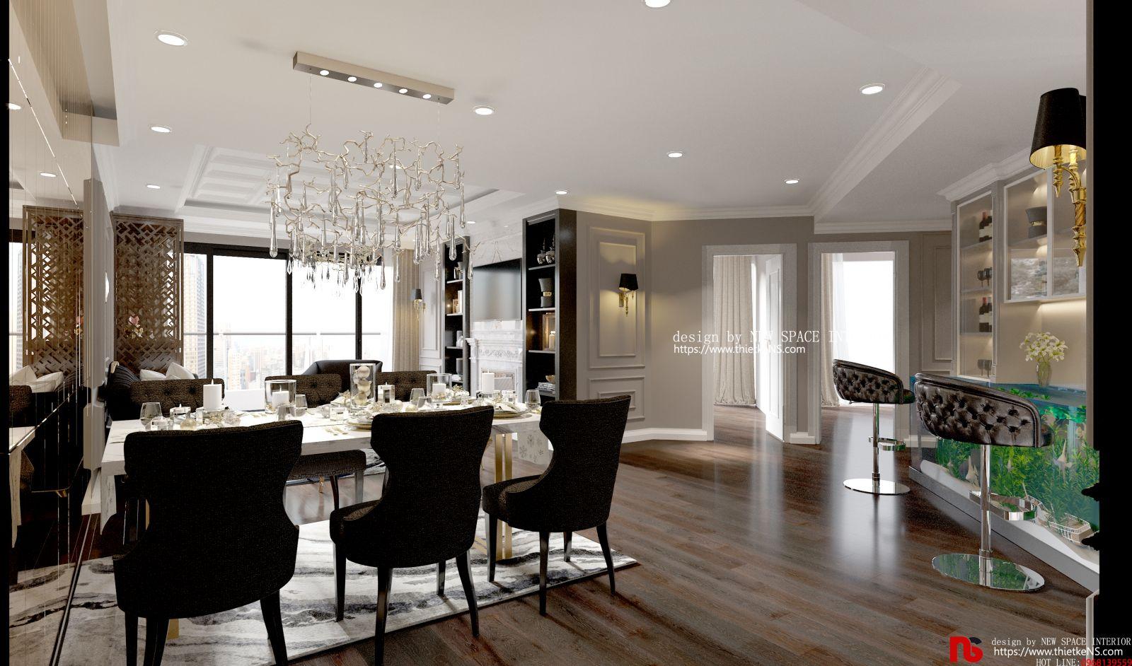 Choáng ngợp với thiết kế nội thất chung cư cao cấp Vinhomes Green Bay