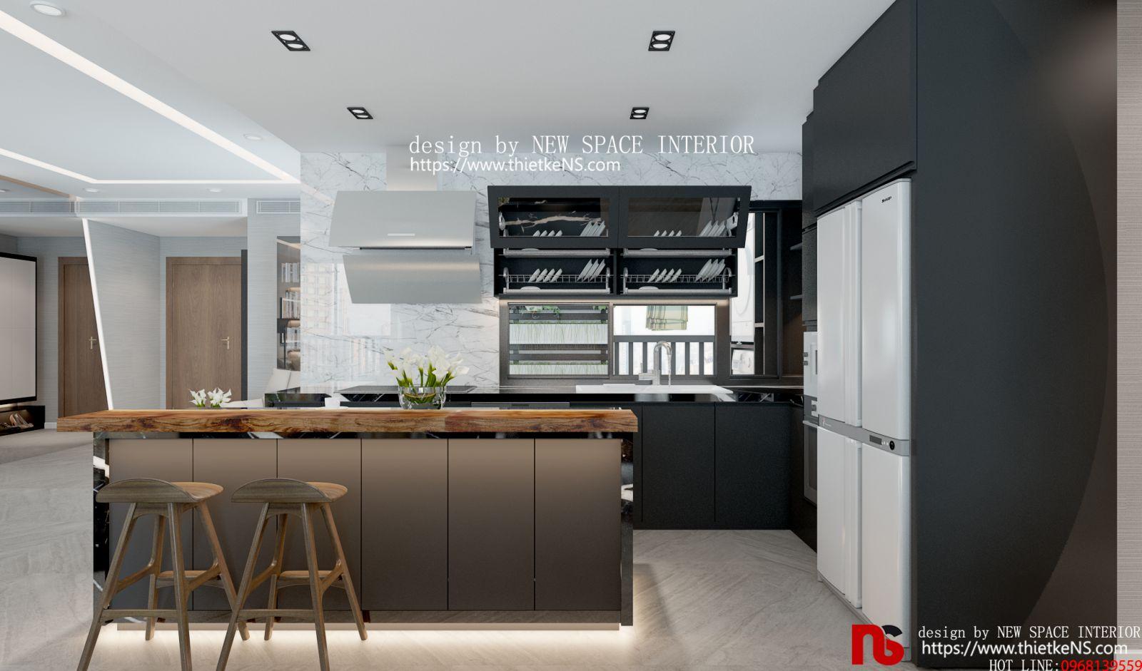 Thiết kế nội thất chung cư không gian phòng bếp