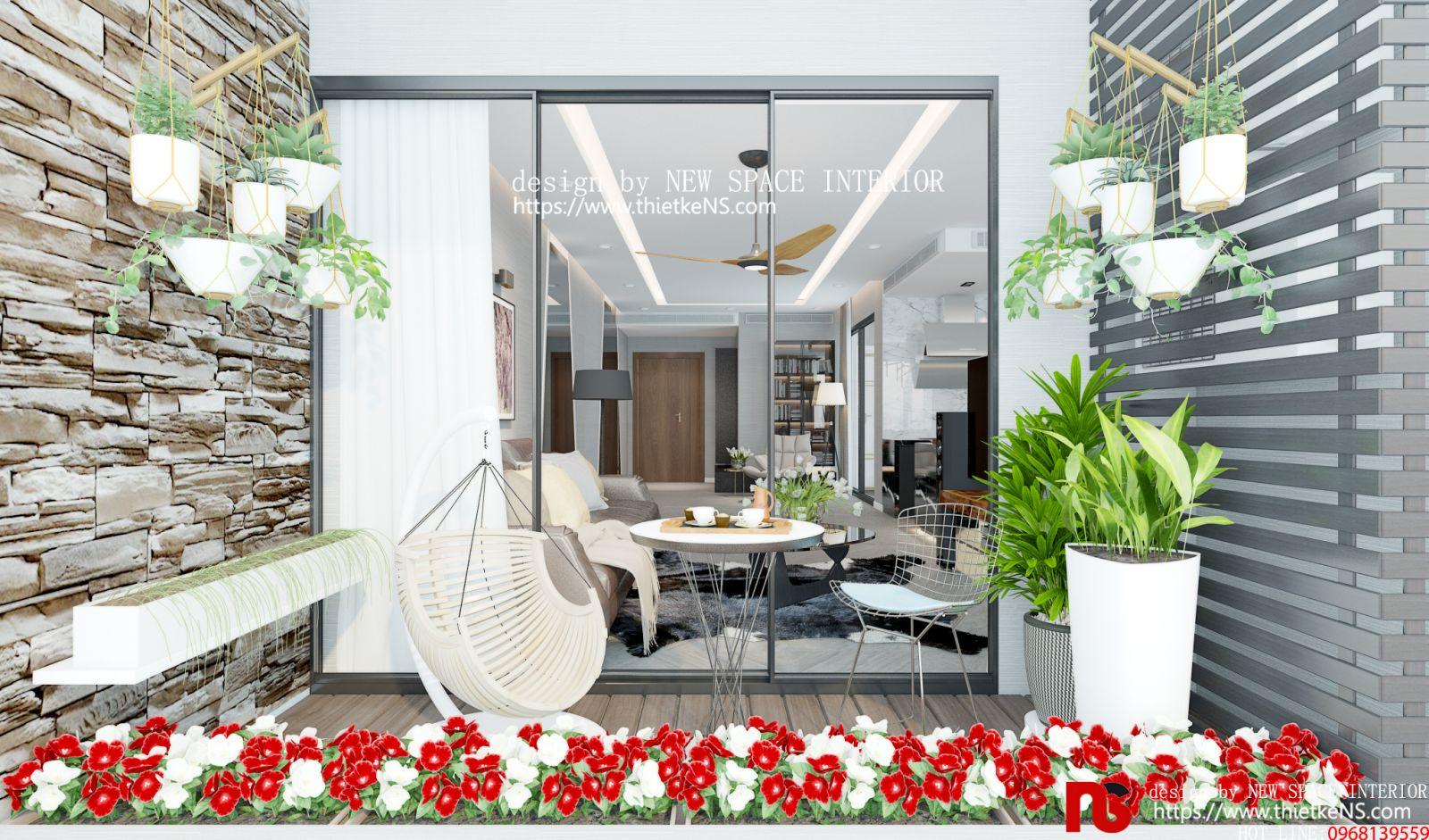 Thiết kế nội thất chung cư khu vực ban công