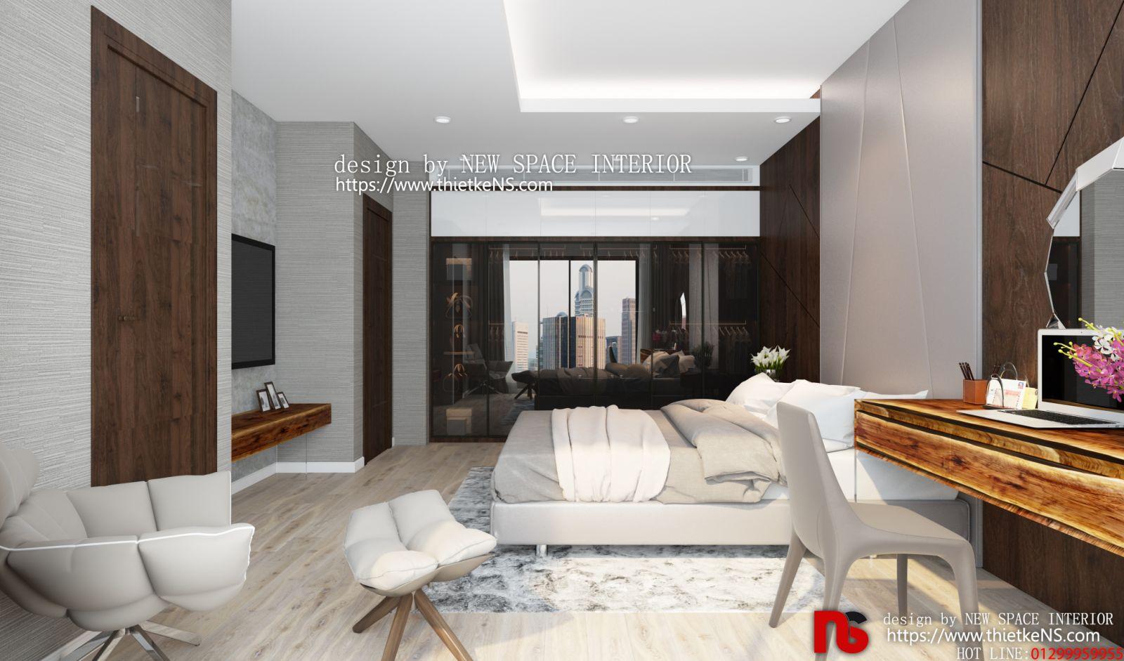 Thiết kế nội thất chung cư phòng ngủ