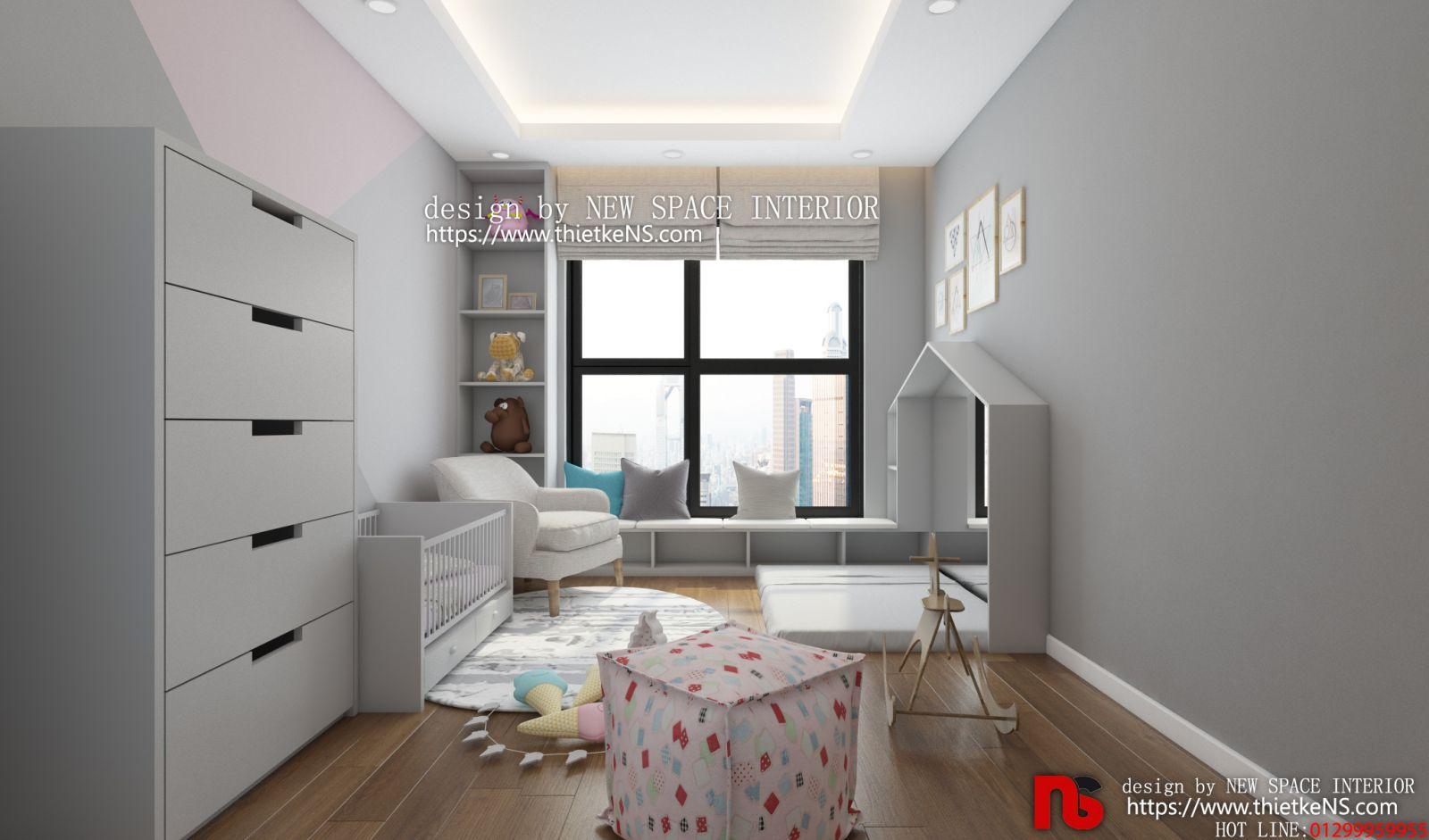 Không gian thiết kế nội thất chung cư phòng ngủ