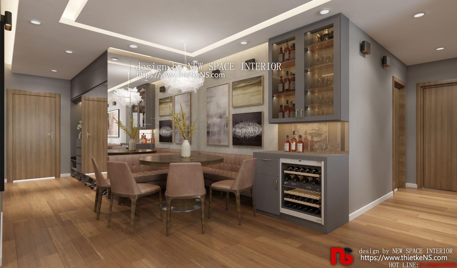 Không gian thiết kế nội thất chung cư phòng bếp