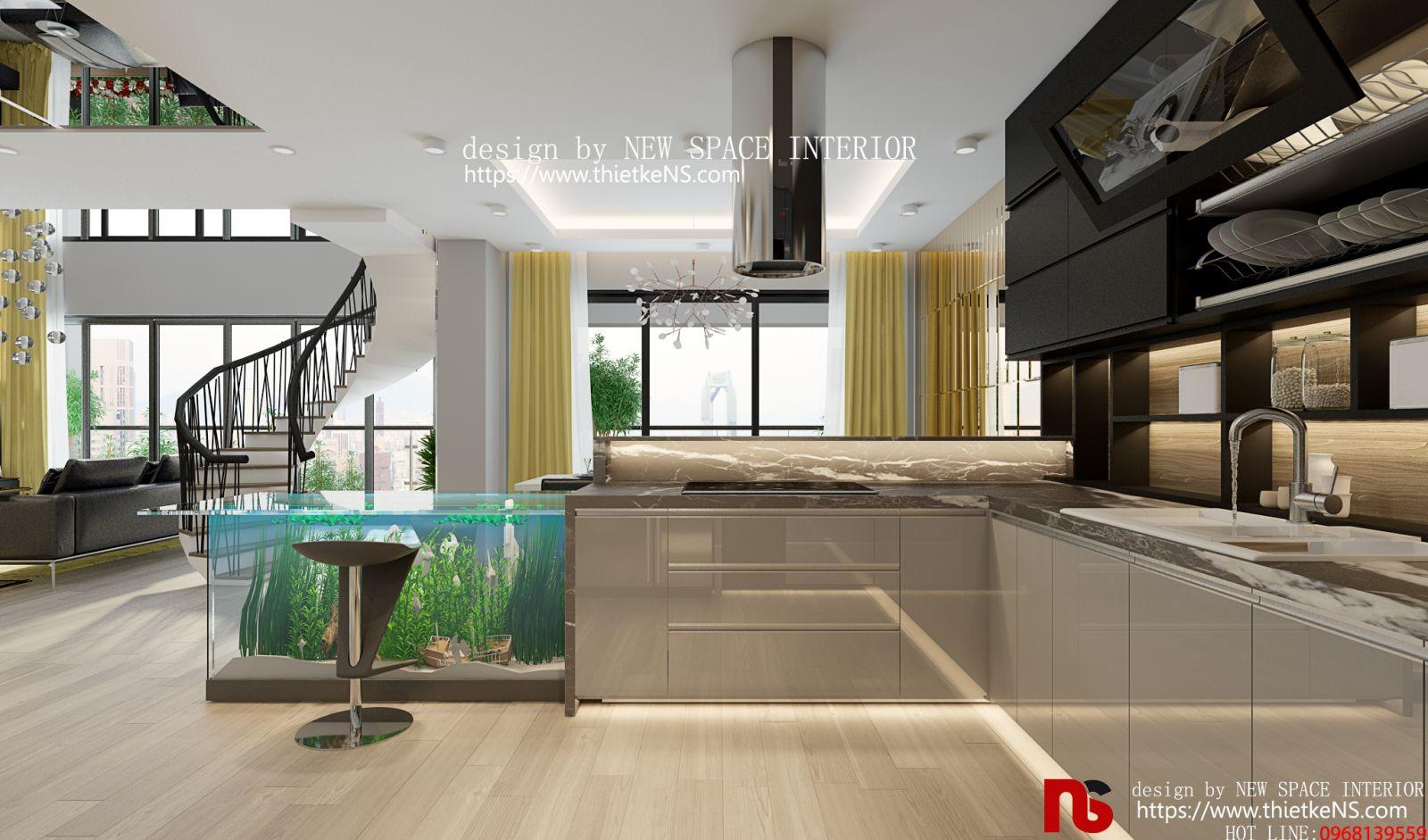 Thiết Kế Nội Thất Chung Cư Golden Heart Penthouse Duplex
