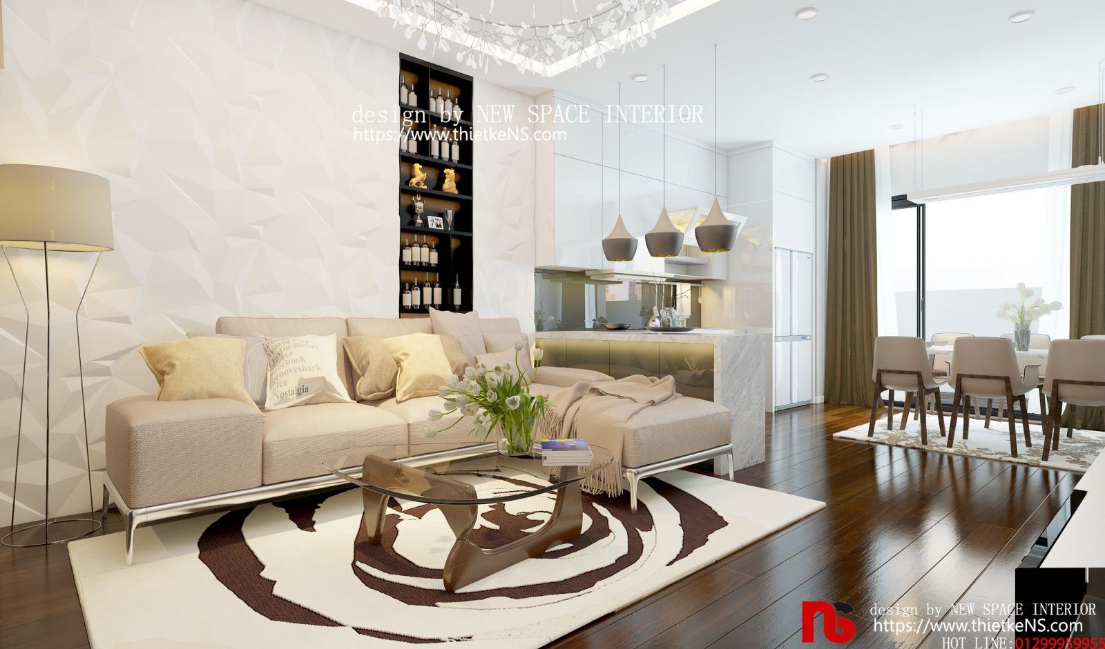 Thiết kế nội thất chung Cư RomanPlaza 02 đẹp như mơ
