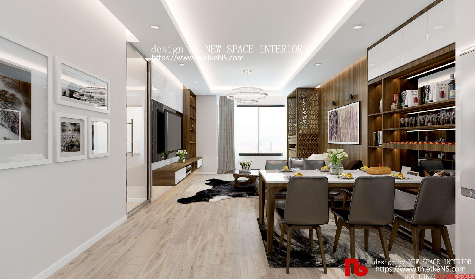 Thiết kế nội thất chung cư phòng bếp