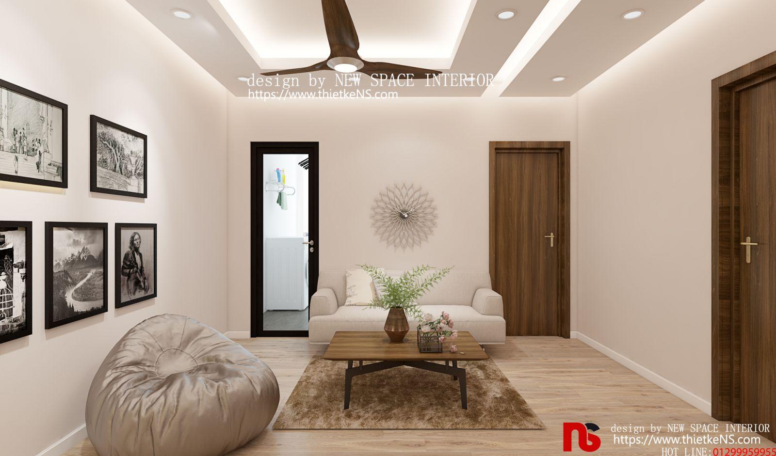 Thiết kế nội thất chung cư phòng làm việc