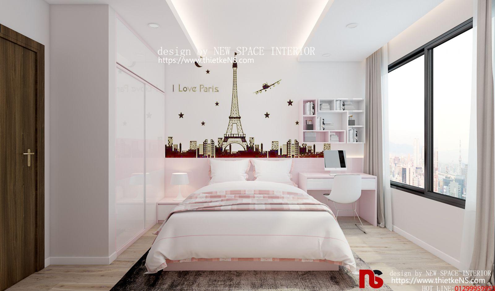 Thiết kế nội thất chung cư khu vực phòng ngủ
