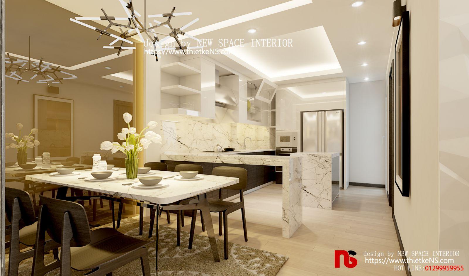 Thiết kế nội thất chung cư Green Bay 01