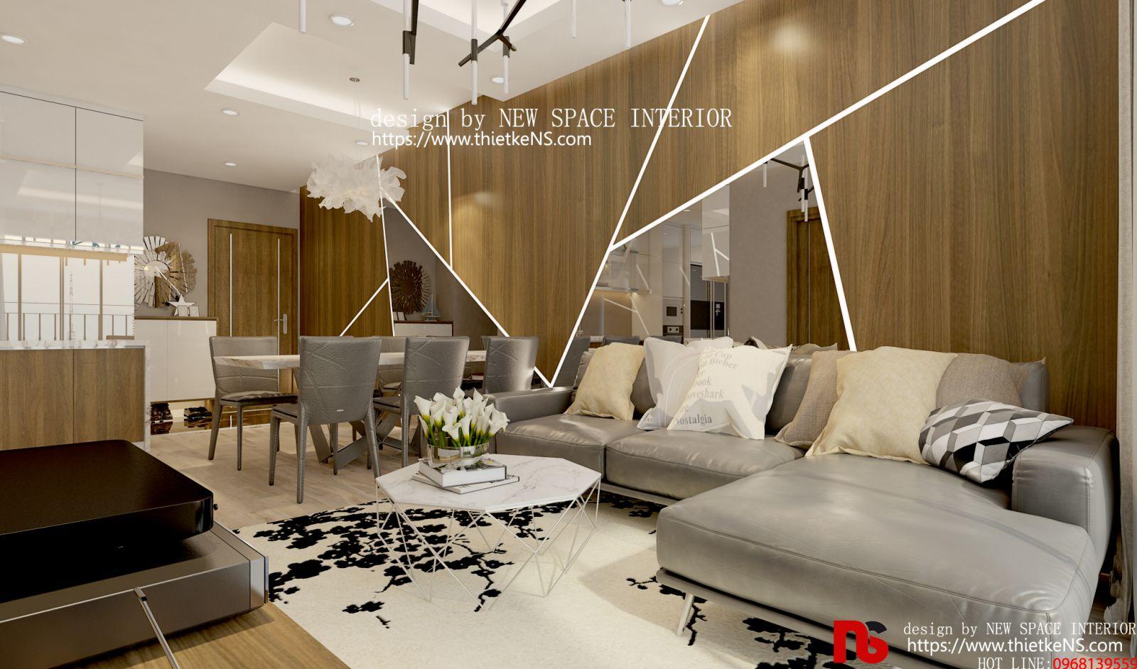 Thiết kế nội thất chung cư khu vựcphong khách