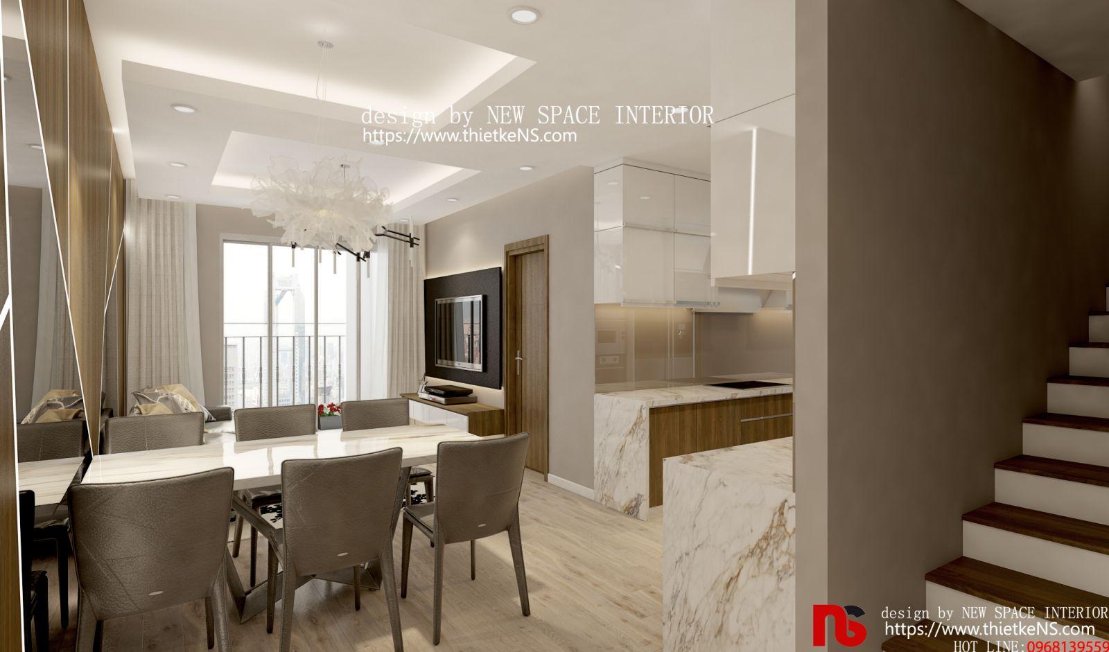 Thiết kế nội thất chung cư khu vựcnhà bếp