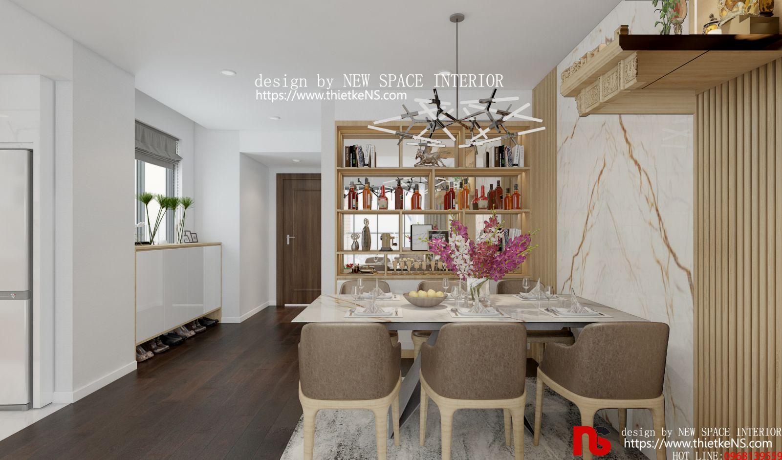 Thiết kế nội thất chung cư khu vực nấu ăn