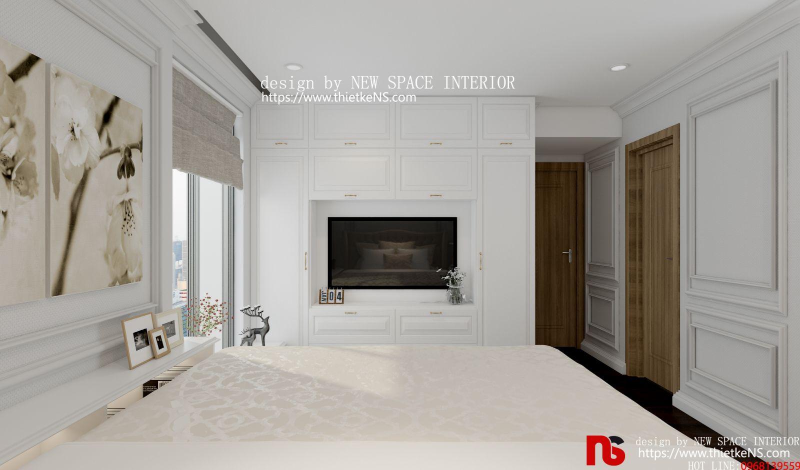 Thiết kế nội thất chung cư phòng ngủ tinh tế