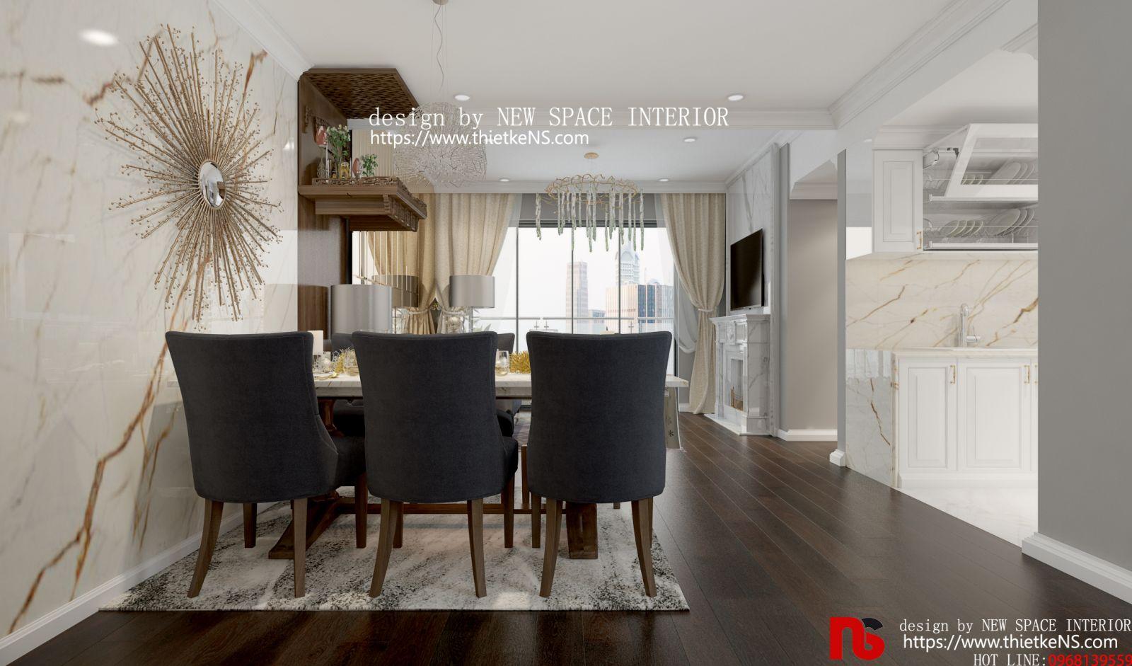 thiết kế nội thất chung cư khu vực ăn uống
