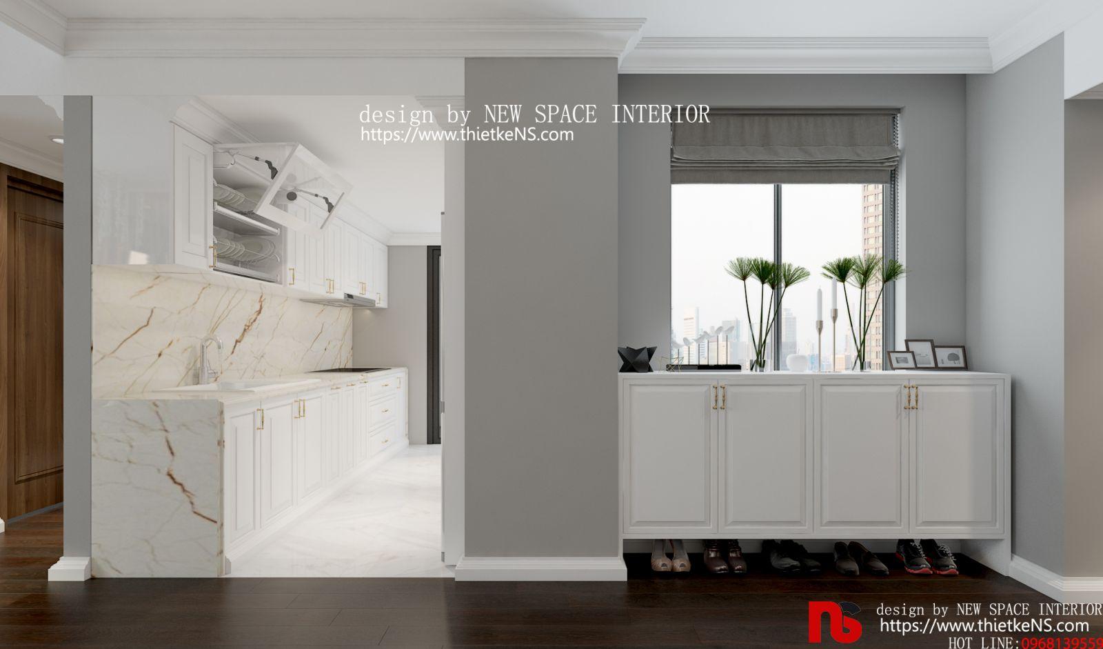 Thiết kế nội thất chung cư khu vực nhà bếp