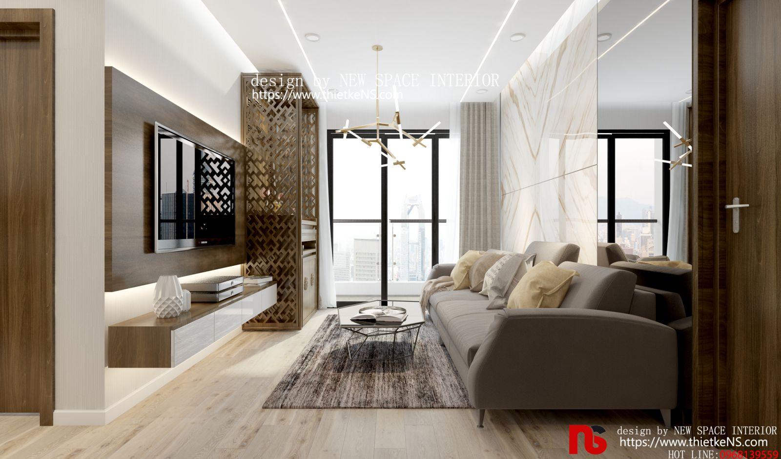 Thiết kế nội thất chung cư phòng khách đẹp sang trọng
