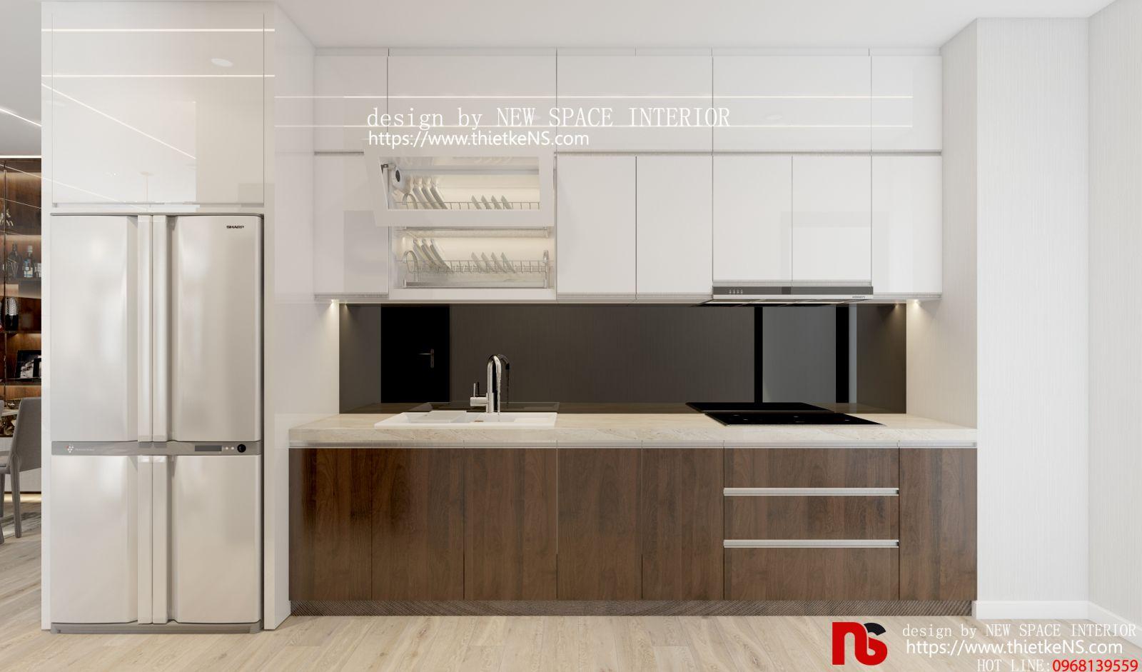 Trang trí thiết kế nội thất chung cư khu vực nhà bếp