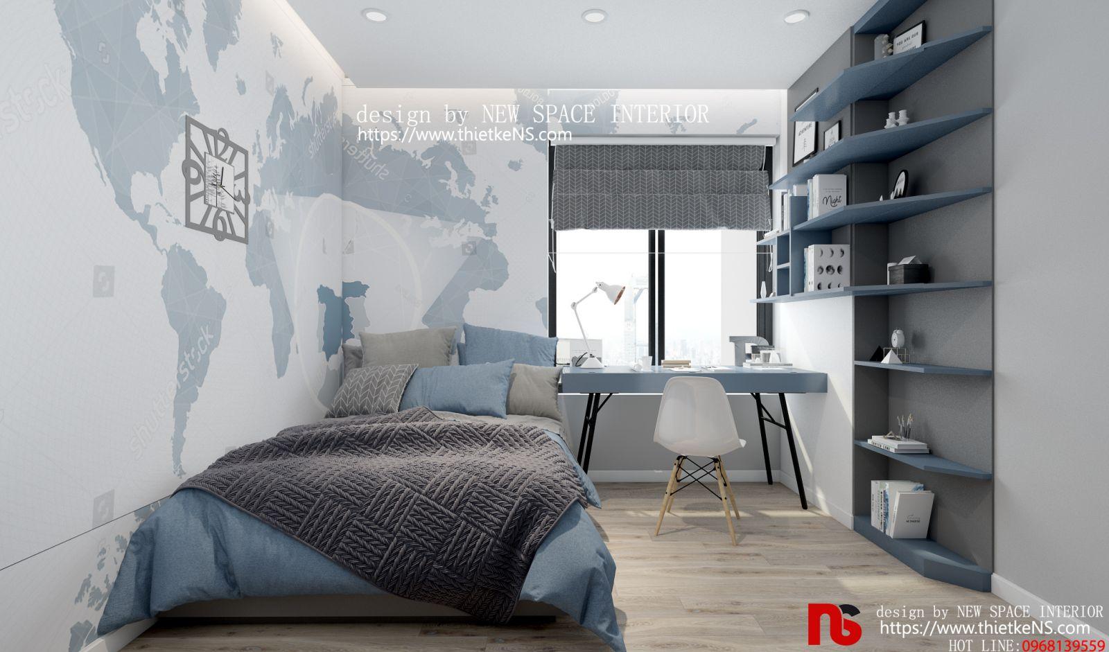 Thiết kế nội thất phòng ngủ chung cư hiện đại, độc đáo