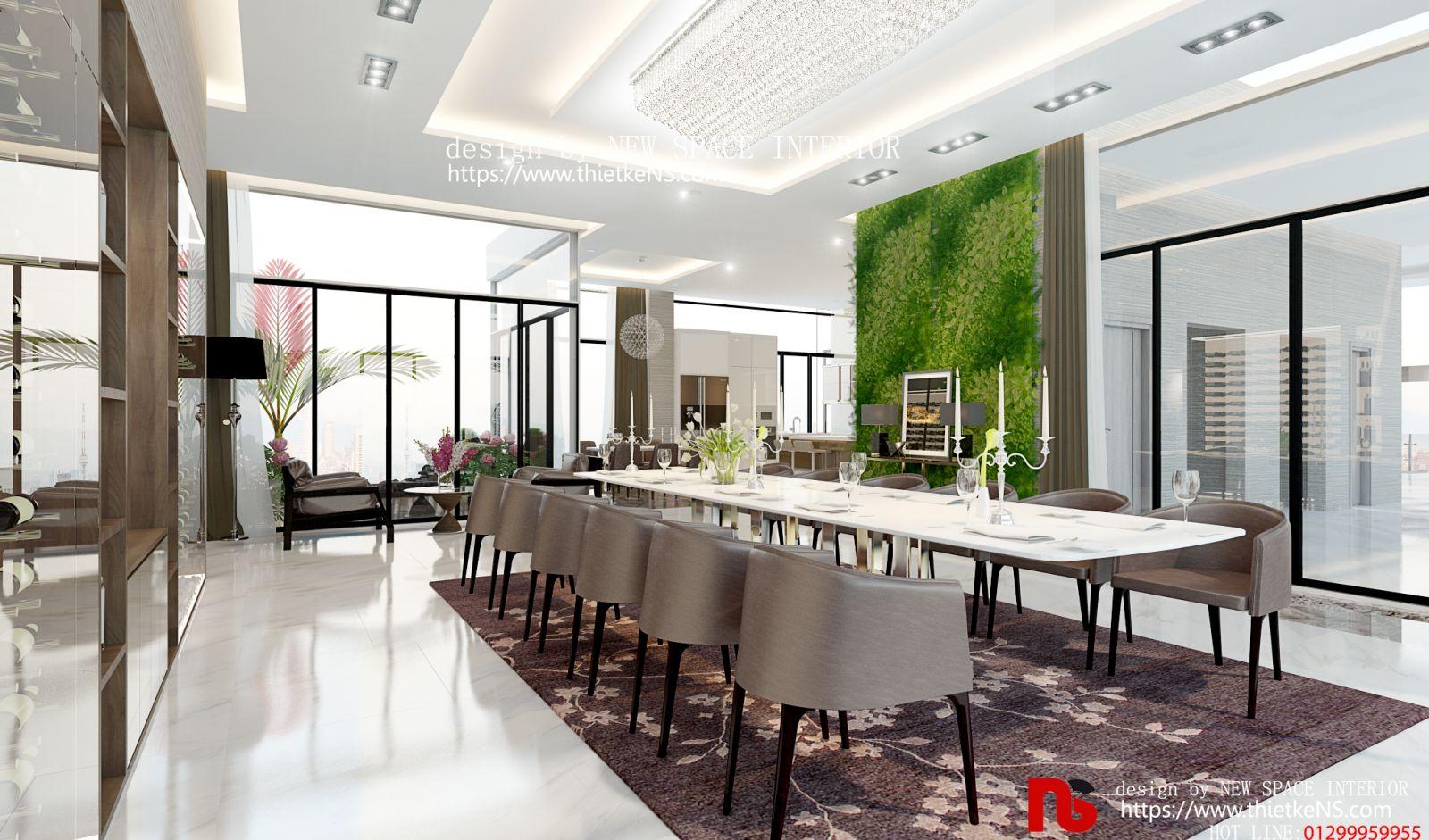 Thiết kế nội thất chung cư khu vực ăn uống tại chung cưGolden Park