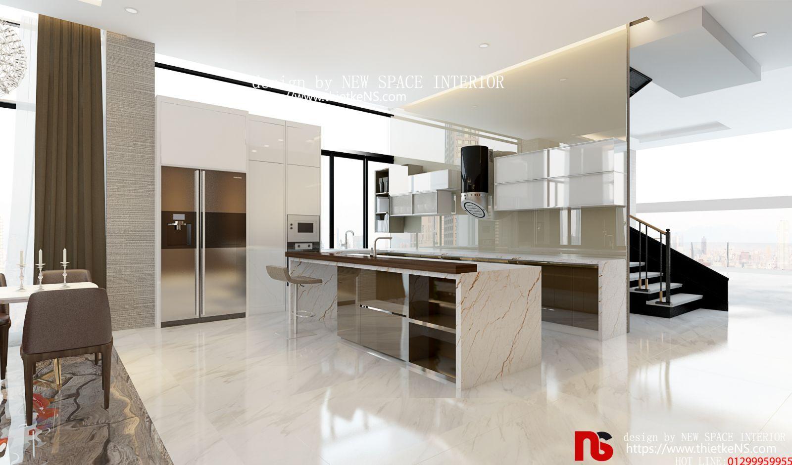 Thiết kế nội thất chung cư khu vực phòng bếp