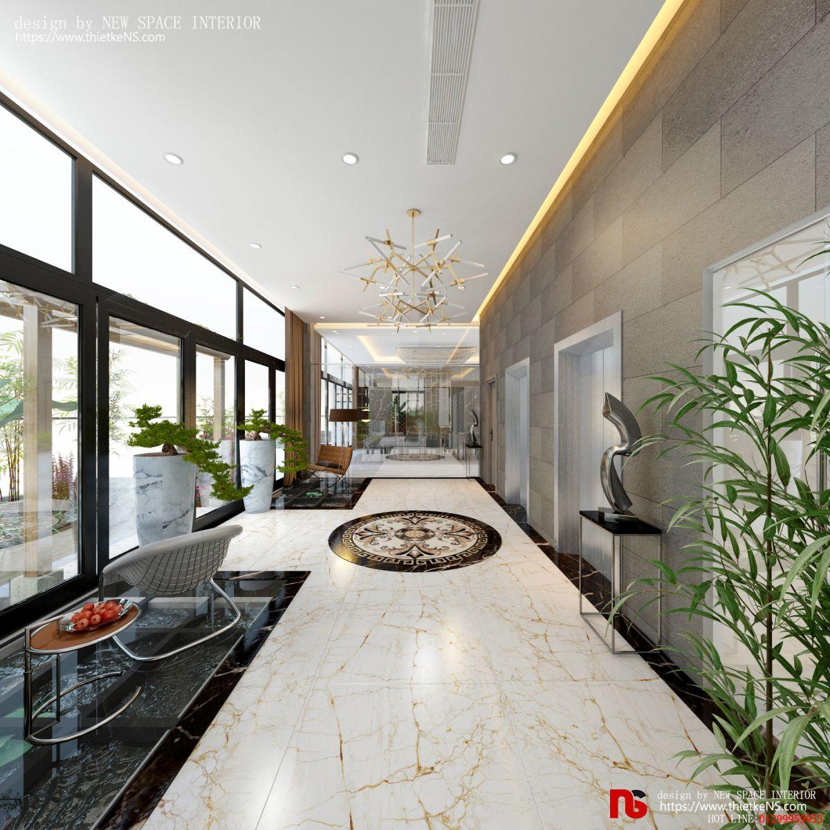Thiết kế nội thất chung cư khu vực sảnh chờ