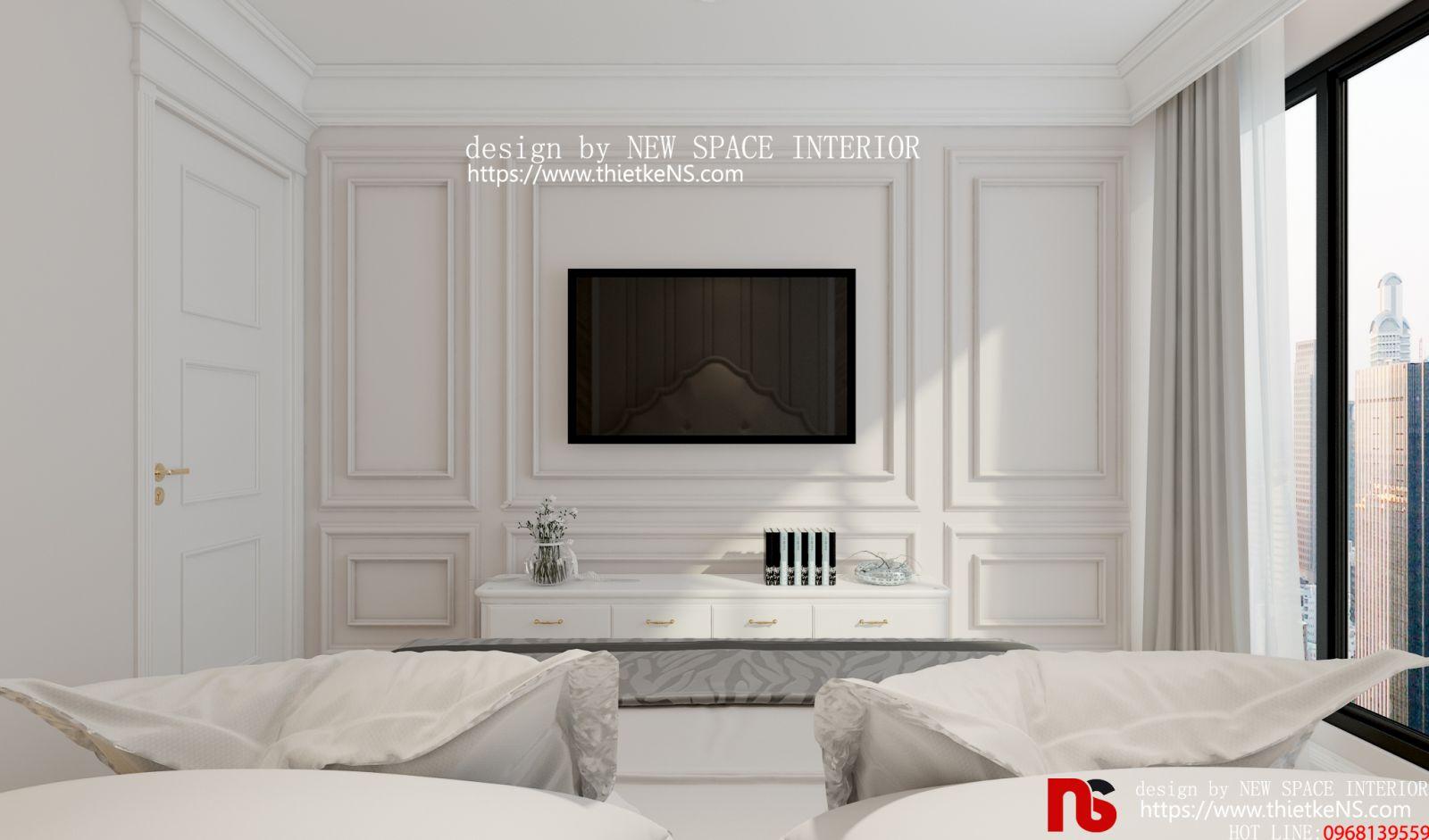 Thiết kế nội thất chung cư khu vực phòng ngủ tại chung cưGoldSeason 01