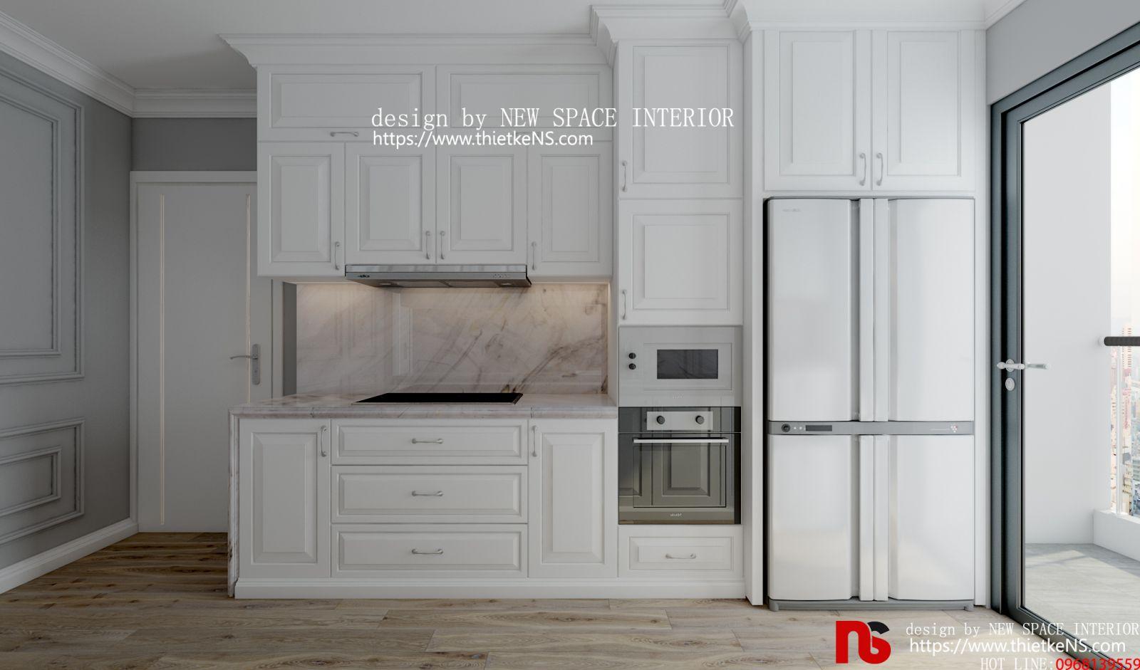 Thiết kế nội thất chung cư cho khu vực nhà bếp
