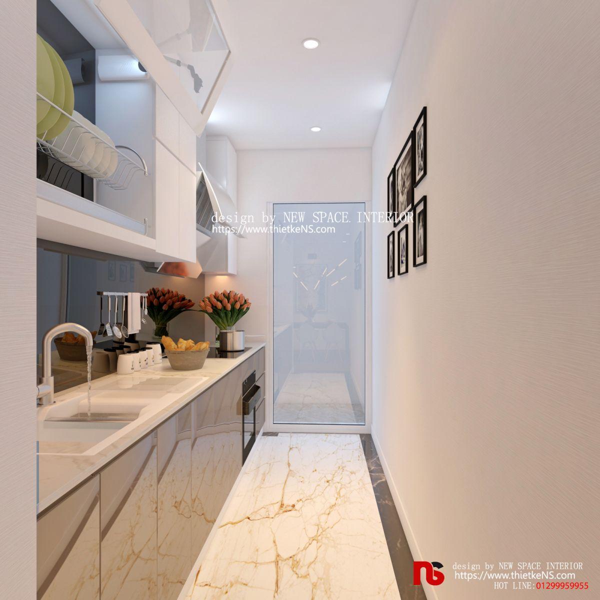 Thiết kế nội thất chung cư không gian nhà bếp