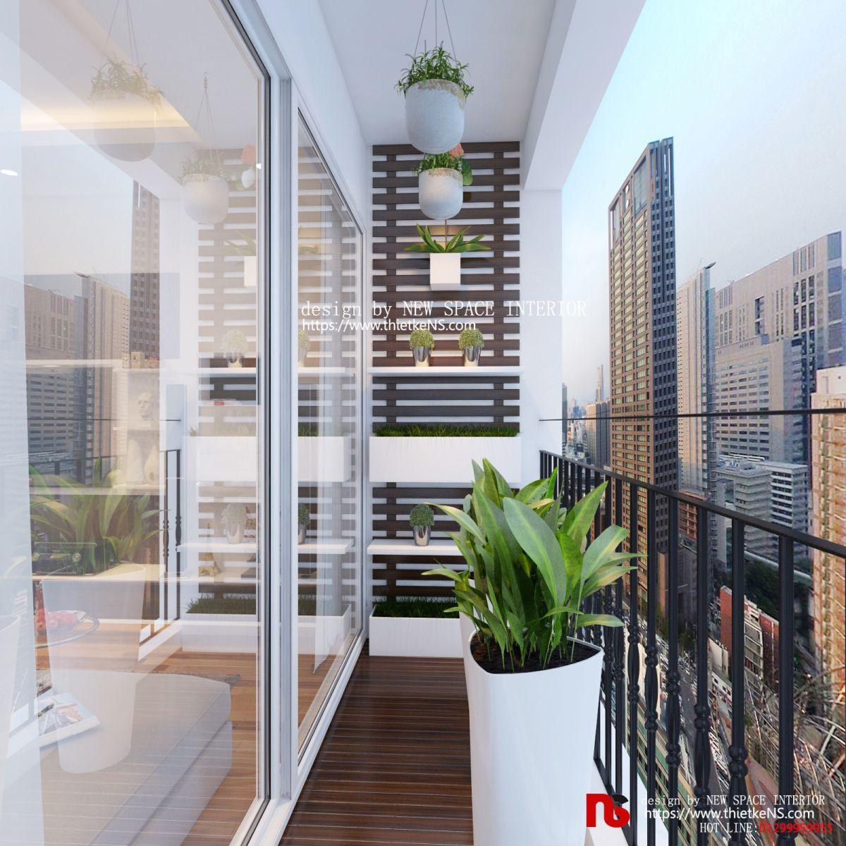 Thiết kế nội thất chung cư không gian ban công