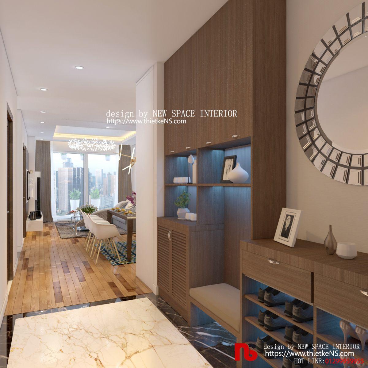 Thiết kế nội thất chung cưkhông gian phòng khách