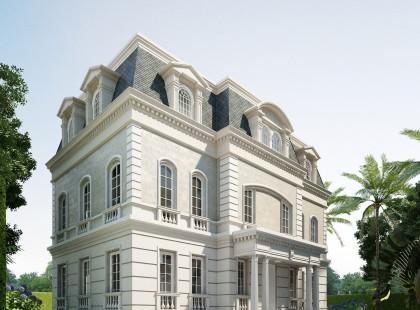 Thiết kế nội thất biệt thự hoàng gia Vincom Village 1205