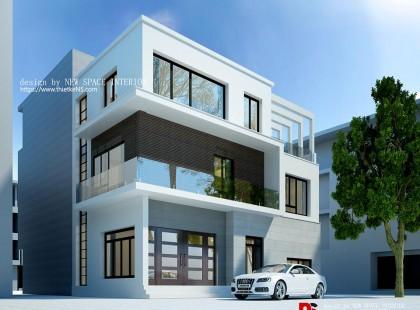 Thiết kế nội thất nhà phố Hưng Yên 01