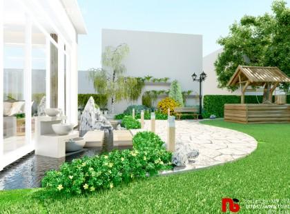 Thiết kế nội thất biệt thự xanh Villa 01 đẹp hoàn hảo từng góc nhìn