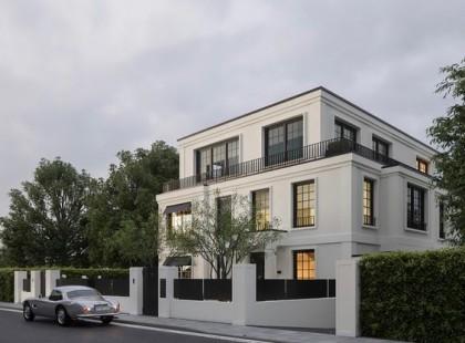 Thiết kế nội thất biệt thự TK 03 hoành tráng theo phong cách tân cổ điển
