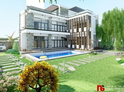 Thiết kế biệt thự phố Hưng Yên phong cách sang trọng, thời thượng