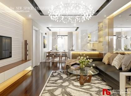 Thiết kế nội thất chung cư Shunshine Garden 02 ấm áp, sang trọng