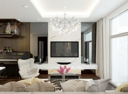 Thiết kế nội thất chung cư Skyvilletower đẳng cấp, sang trọng